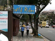 The German Motorcycle & Car Rental agency Wild Rider is only a few meters away from Toyota Rent a Car on Paseo Colon, San Jose.