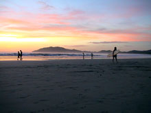 Sunset at Tamarindo Beach.