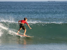Costa Rica offers good surfing conditions year round.
