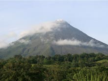 Arenal Volcano with an altitude of 1633 meters.