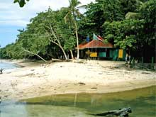 The entrance of the Cahuita National Park.