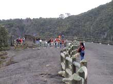 Visitors on the Irazu Volcano.