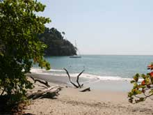 Playa Espadilla Sur is one of the paradisiacal beautiful swimming beaches inside the national park.