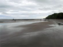 The beach of Esterillos Oeste during the rainy season.