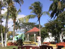 The park in the center of Liberia.