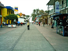 The Avenida 2 in the center of Limon.