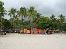 The beach of Manuel Antonio outside of the national park.