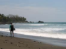 Most of the tourists that come to Pavones are surfers.