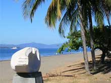 The beach of Puntarenas..
