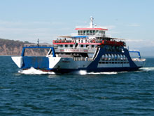 The ferry Tambor 2 is one of the ferries that commutes several times per day between Puntarenas and Paquera and Puntarenas and Playa Naranjo.