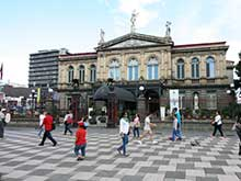 The National Theater is one of the sights of San Jose, the capital of Costa Rica.