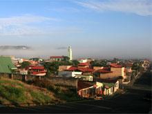 San Ramon in the morning fog.