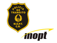 Emblems of the traffic police and the M.O.P.T..