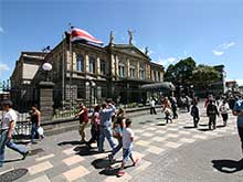 The Teatro Nacional at the Plaza de la Cultura.