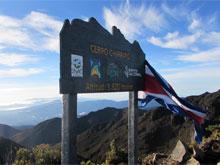Der Gipfel des Cerro Chirripo, der höchste Berg Costa Ricas.