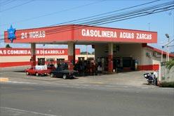 In Aguas Zarcas gibt es eine 24 Stunden Tankstelle.