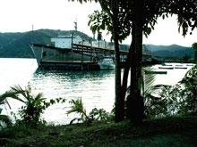 Der Hafen von Golfito.