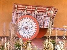 Una carreta típica en el museo nacional en San José.