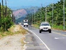 La Costanera Sur está en buenas condiciones, un automóvil es suficiente para esta carretera.