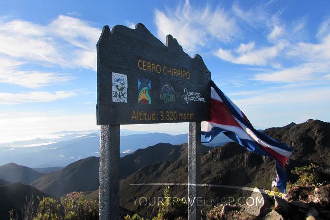 La cima del Cerro Chirripo, la montaña más alta de Costa Rica.