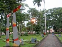 Parque Palmares en Alajuela.