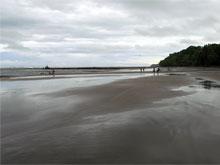 La playa de Esterillos Oeste en la época lluviosa.