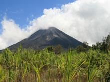 Vista del Volcán Arenal desde el parque nacional.