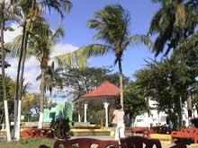 El parque en el centro de Liberia.