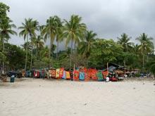 La playa fuera del parque nacional.