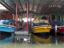 Desde Almirante (Panamá) es posible cruzar en taxi lancha a la Isla Colón (Bocas del Toro).